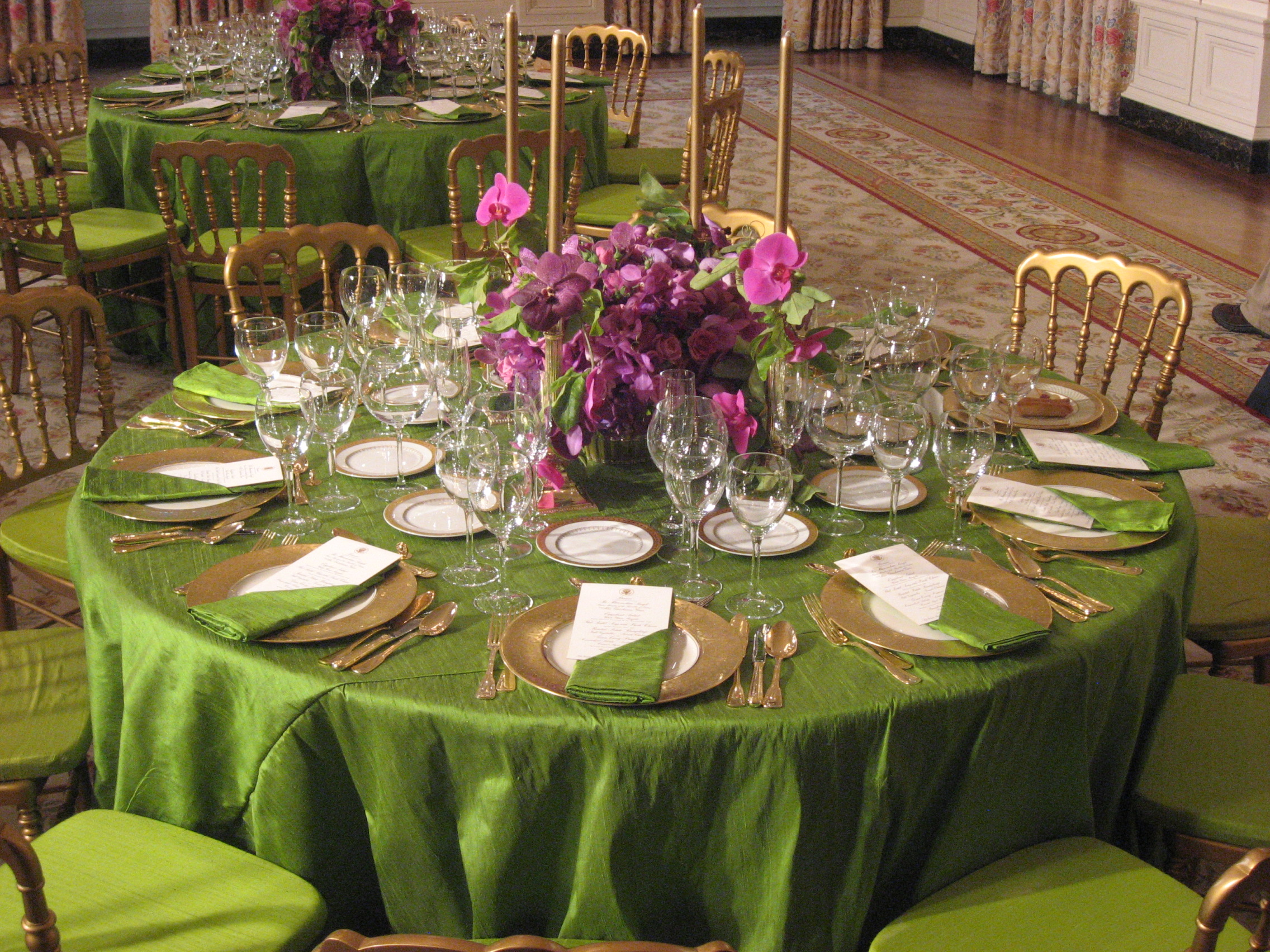 Table linen and Chair covers Event Rentals Miami