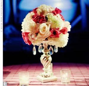 Party rental floral center pieces