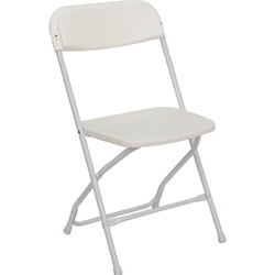 Party rental plastic folding chair