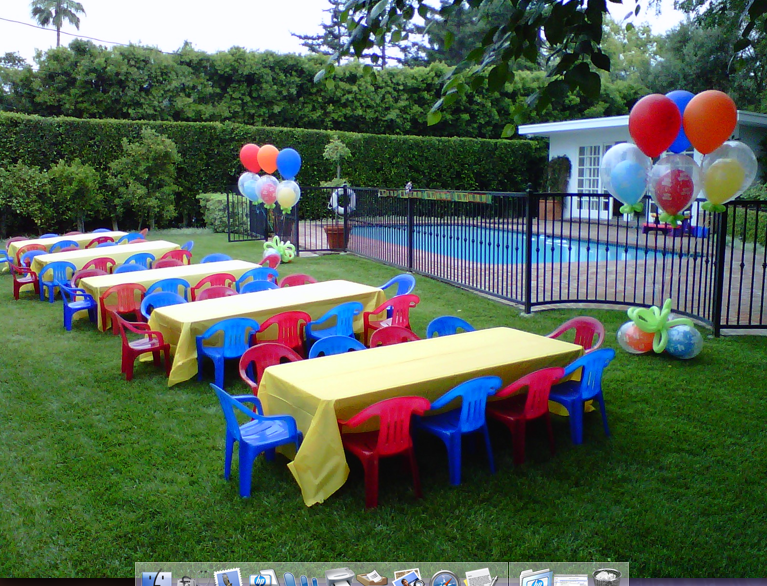 Children Party Tables Chairs Kid Tent Rentals Miami