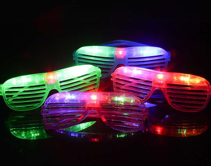 Neon led flashingshutter shade glasses
