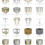 Reflectional Coffee and End Table Rentals Pricing
