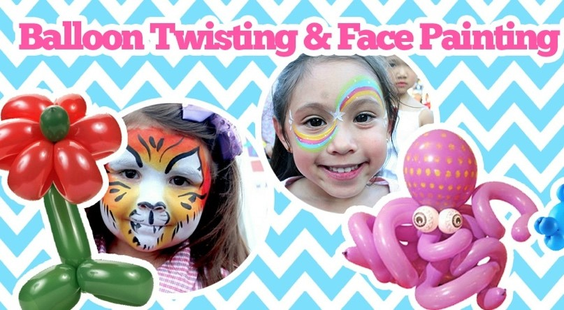 Miami Party Entertainment - Face painting and Balloon twisting