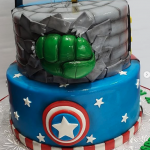 We offer a variety of custom designer birthday cakes that include themes like super heroes and more