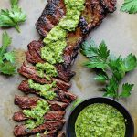 Churrasco Skirt Steak with chimichurri