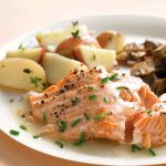 Salmon sweet onion glaze